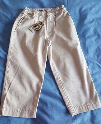 Boys Designer Timberland Light  Beige / Cream Trousers Age 3 RRP £29.99 BNWT