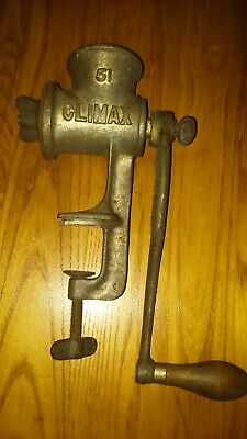 RARE Old Climax 51 Meat Grinder Vintage Antique Kitchen Hand Crank CLEAN