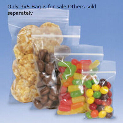 Plastic Resealable Bags 3 W x 5 H Inches - Box of 1000