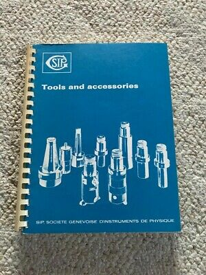 SIP 620, 720 SIP Hauser, Tooling and Accessories Manual