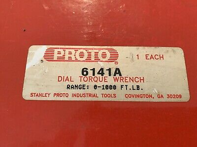 Proto  6141A Dial Torque Wrench 0-1000 ft. Pounds