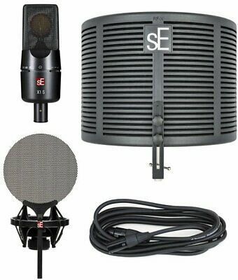 sE Electronics X1 S Microphone & RF X Portable Vocal Booth Studio Bundle