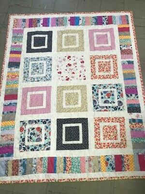 Handmade Crib Toddler Infant Large Quilt Professionally Quilted