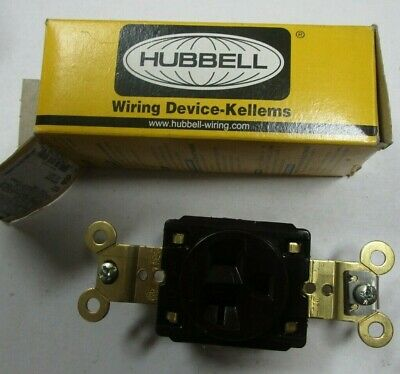 5 HUBBELL WIRING DEVICE-KELLEMS HBL5361WR 20A Single Receptacle 125VAC