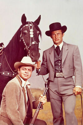 The Wild Wild West Robert Conrad Ross Martin With Horse Color  8x10 Glossy Photo