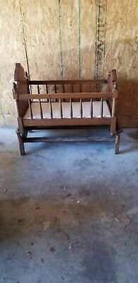 Antique wooden baby cradle 1889 From Germany