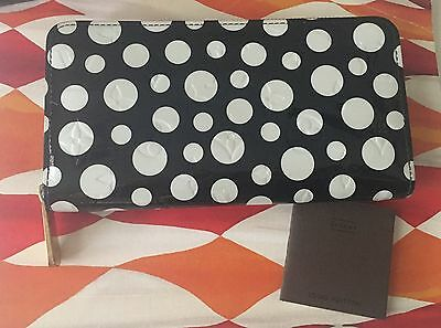 Authentic Louis Vuitton Yayoi Kusama Infinity Black Dots Vernis Zippy Wallet