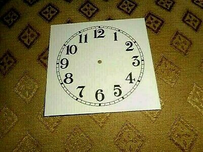 "Square Paper (Card) Clock Dial - 3 1/4"" M/T- Arabic- MATT CREAM-Face/Clock Parts"