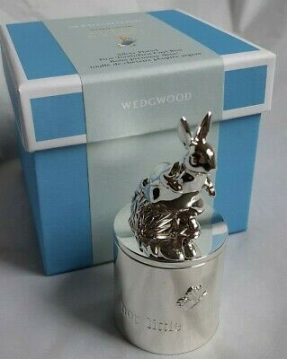 Brand New Wedgewood - Peter Rabbit - First Tooth/First Curl Box - Silver Plated