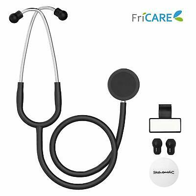 Dual Head Stethoscope for Medical and Home by FriCARE, Classic Lightweight Desig