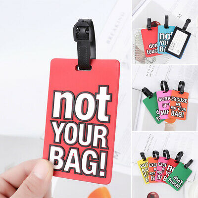 Baggage Boarding Label Luggage Tag Travel Tag Creative Letter Baggage Holder