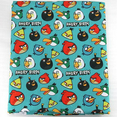 Fabric Angry Birds Video Game Print Polycotton Blend 50 X 145 Cm/20 X 58 In
