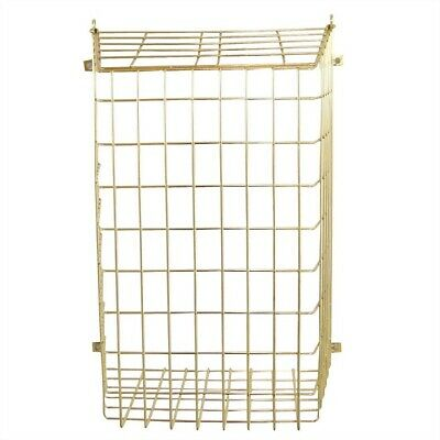 Standard Metal Letterbox Cage Brass Effect Finish Post Mail Box Dog Door Letter