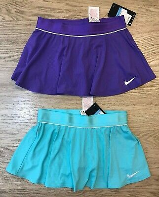 NIKE GIRLS court TENNIS SKIRT size M 10-12 yrs PURPLE aqua BNWT