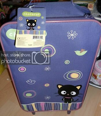 """Sanrio Chococat Vintage Carry-On Luggage Stroller 20"""" NEW with Tag with Bonus"""