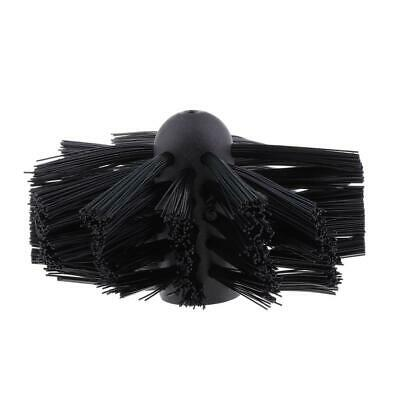Fireplace Chimney Lint Remover Nylon Cleaning Brush Head 100mm Dia. Black