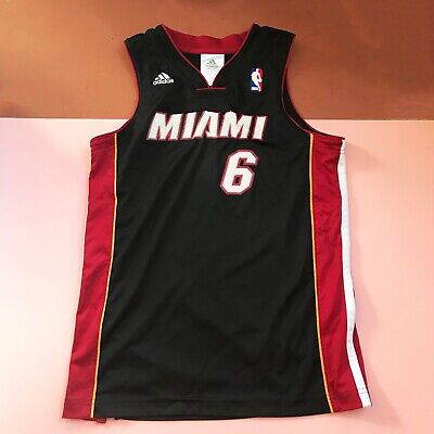Retro Kids Black Red Miami Heat Basketball James Jersey Top 10 Y