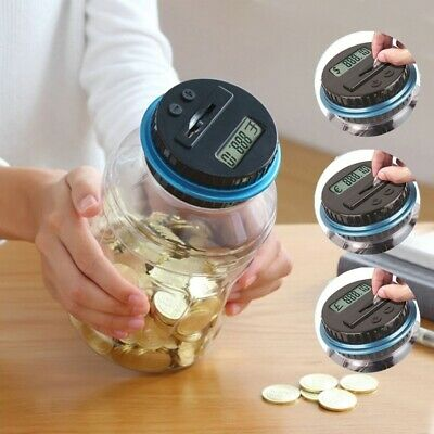 Coin Counter Electronic Digital Saving Piggy Bank with Gift Bag Kids Gifts