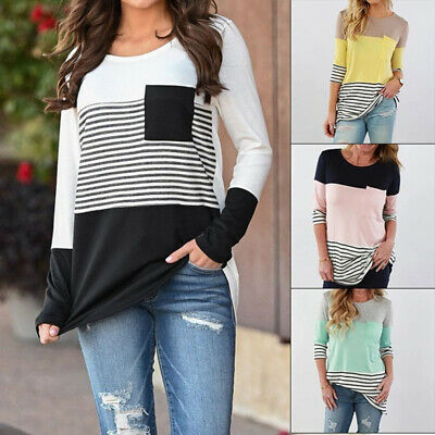 Cotton Long Sleeve Nursing T-shirts Maternity Tops Pregnant Women Breastfeeding