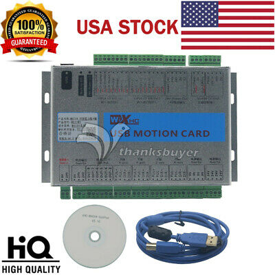USB 2MHz Mach4 CNC 4 Axis Motion Control Card Breakout Board for Machine #USA