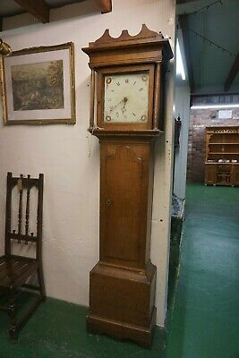 19th Century Oak Grandfather Clock