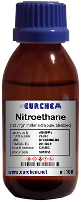 Nitroethane - sterilized >99.99% (1st extra pure virgin matter) price for 100 ml