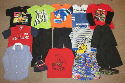 Boys Clothes Bundle. Age 7-8 Years. Next, George, M&Co. T-Shirts, Long Slee Tops