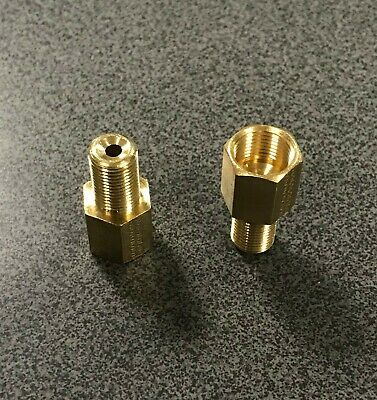 Brake Line Pipe Brass Inline Female Fitting Connector Coupler M12x1 to M10x1
