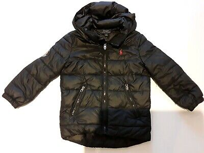 Boys Polo Ralph Lauren Black Padded Coat Jacket Age 4