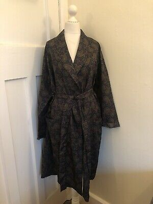 "Vintage M&S ST.MICHAEL Paisley Dressing Gown Robe Smoking Jacket 38/40/42"" Chest"