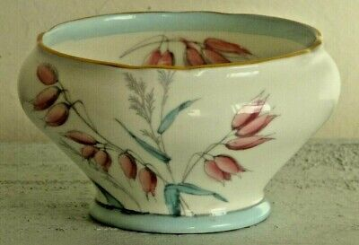 Vintage Aynsley Sugar Bowl with pretty blue and pink floral design