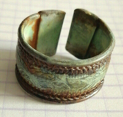 Extremely Rare Ancient Viking Ring Metal Color Silver Artifact Amazing