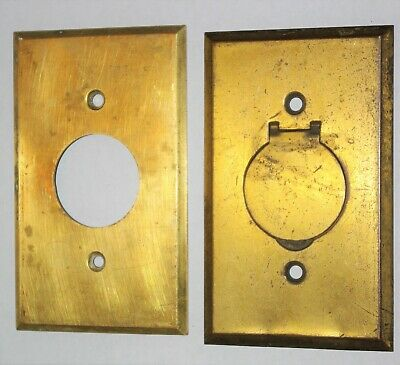 Antique Brass Round Outlet Covers Flap Cover Floor Use Pat Appld For