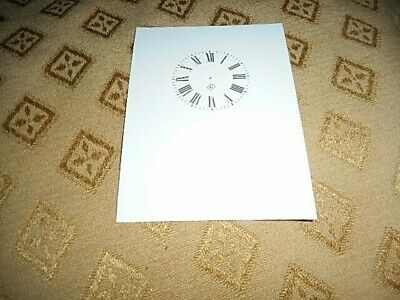 Gilbert Carriage Clock Paper (Card) Dial- 41mm (M/T) - High Gloss White -Parts