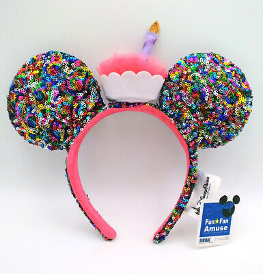 Candle Disney Parks 2020 Mickey Mouse Sequins Minnie Ears Multicolor Headband