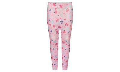 Official Licensed Girls Peppa Pig Pink All Over Character Leggings Age