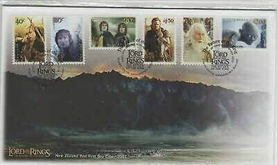 New Zealand 2003 Lord Of The Rings  3Rd Series Fdc Self Adhesives