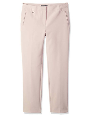 Adrianna Papell Womens Millenium Kate Fit Pink Ankle Dress Pants Sz 12 NWT $89
