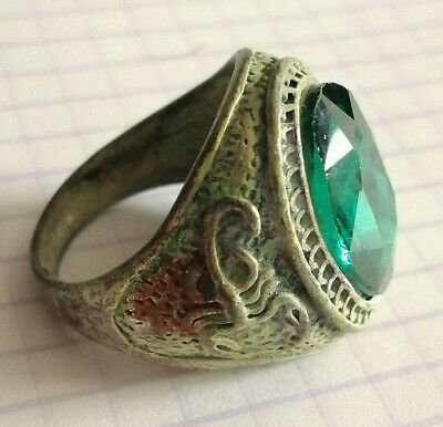 Extremely Rare Ancient Roman Ring Metal Color Silver Amazing Ring Scorpion