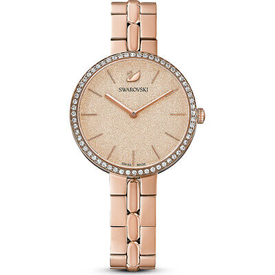Swarovski Crystal Cosmopolitan Watch Metal Bracelet Peach/Rose Gold 5517800.New