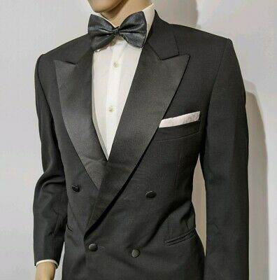 Gieves & Hawkes Bespoke Tuxedo Suit Handmade Double Breasted 42R W32 L29 RP£2495