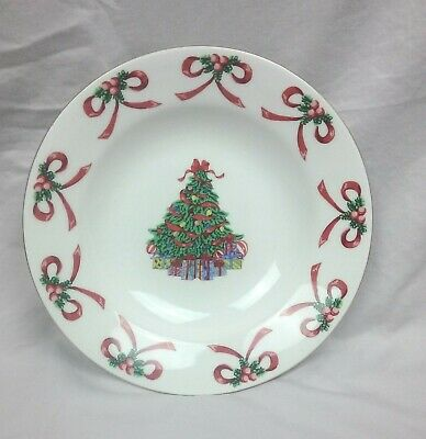Gibson Christmas Morning Rimmed Soup Cereal Bowl Discontinued Replacement Piece