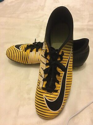 Nike Mercurial Yellow/ black academy football boots size UK 10