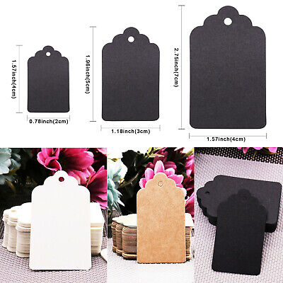 100PCS Christmas Kraft Paper Gift Tags Price Scallop Label Blank Luggage Wedding