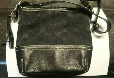Coach Mini Handbag w/ Tassel - Black - Excellent condition -