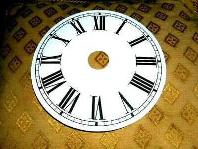 """Round Paper (Card) Clock Dial- 7 3/4"""" M/T (1 1/4"""" Centre Hole) -WHITE- Parts"""