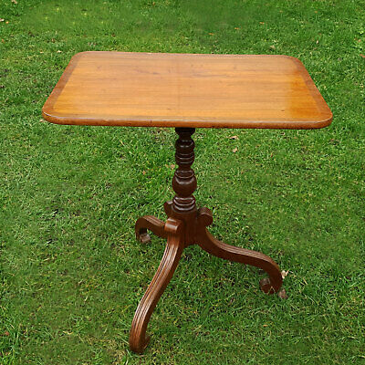 Regency Mahogany Feather Banded Flip-Top Tripod Supper Side Table Early C19th