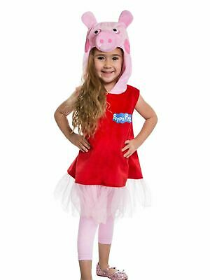 Girls Toddler Halloween Costume PEPPA PIG Size 2T - 3T Hooded Dress Pullover NEW