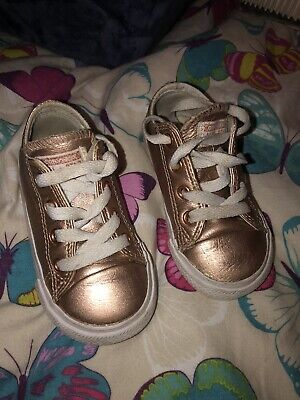 INFANT 6 CONVERSE All Star Ox Leather Rose Gold Metallic ...