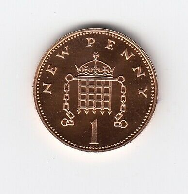 1980 ONE PENNY 1p PROOF Mirror Matt Finish Extremely Nice 1p piece  (1536)